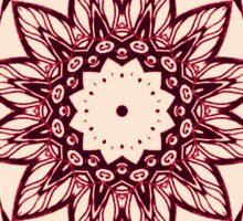 red pattern kaleidoscope Sticker