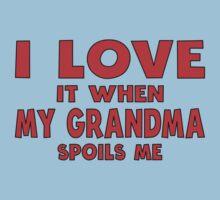 I Love It When My Grandma Spoils Me Kids Tee