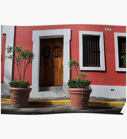 House in Old San Juan Poster