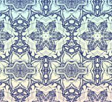 Blue Star pattern Sticker