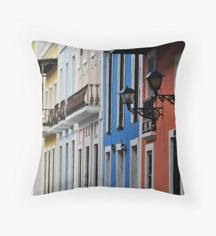 Street in Old San Juan Throw Pillow