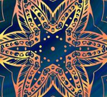 Star kaleidoscope pattern Sticker