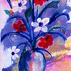 Summer bouquet, watercolor by Anna  Lewis
