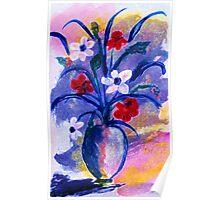 Summer bouquet, watercolor Poster