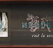 Nestle sign Franklin Roosevelt Metro station 19570919 0004  by Fred Mitchell