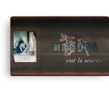 Nestle sign Franklin Roosevelt Metro station 19570919 0004  Canvas Print