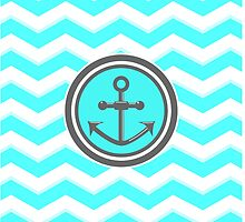 Chevron Anchor Smile Illusion by piedaydesigns