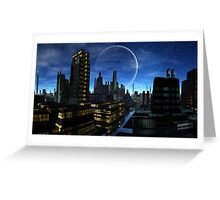 Moon over Santos Grayling Greeting Card