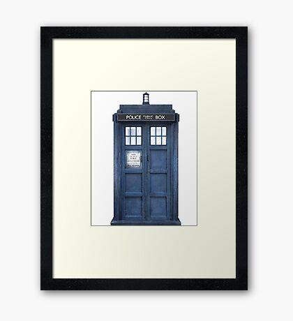 Tardis Blue - The Police Box Framed Print