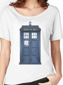 Tardis Blue - The Police Box Women's Relaxed Fit T-Shirt