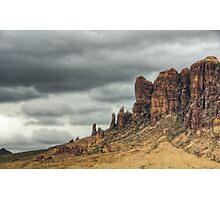 Storm over the Superstitions  Photographic Print