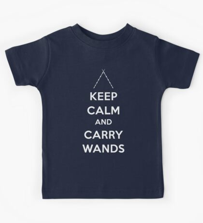 Keep Calm and Carry Wands Kids Tee