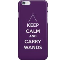 Keep Calm and Carry Wands iPhone Case/Skin