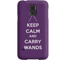 Keep Calm and Carry Wands Samsung Galaxy Case/Skin