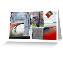 Red Train to Tahoe Greeting Card