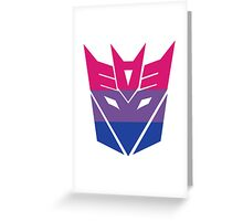 Decepticon Pride [Bisexuality] Greeting Card