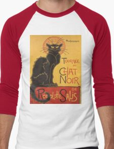 Soon, the Black Cat Tour by Rodolphe Salis Men's Baseball ¾ T-Shirt