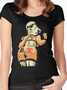 Who's Your Daddy? Women's Fitted Scoop T-Shirt