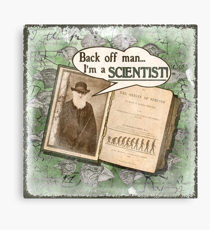 Popular Science: Charles Darwin (distressed) Canvas Print
