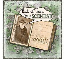 Popular Science: Charles Darwin (distressed) Photographic Print