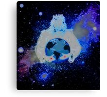 For The Love Of   God & A Neon Vision Of The Round Globe We Call Earth Canvas Print