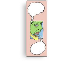 empty thoughts about empty words Canvas Print