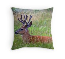 Weedy Deer Throw Pillow