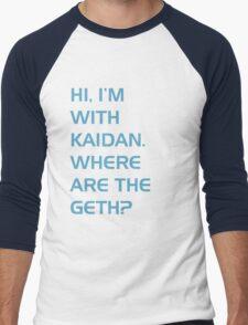 Where are the Geth? Men's Baseball ¾ T-Shirt