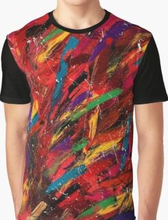 Abstract multi-colored brush strokes Graphic T-Shirt