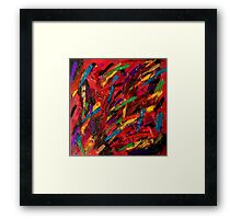 Abstract multi-colored brush strokes Framed Print