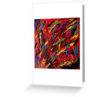 Abstract multi-colored brush strokes Greeting Card
