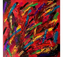 Abstract multi-colored brush strokes Photographic Print