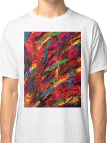 Abstract multi-colored brush strokes Classic T-Shirt