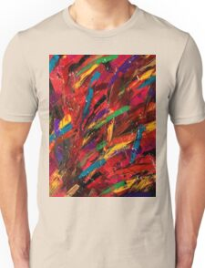 Abstract multi-colored brush strokes Unisex T-Shirt