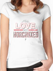 Make Love Not Horcruxes Women's Fitted Scoop T-Shirt