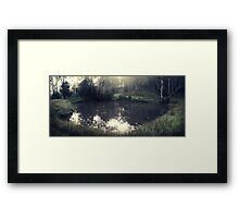 The puddle Framed Print