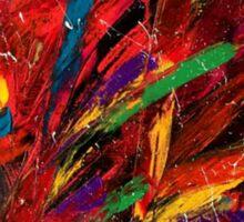 Abstract multi-colored brush strokes Sticker