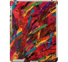 Abstract multi-colored brush strokes iPad Case/Skin