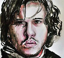 Kit Harington-Jon Snow, featured in Art Universe, Inspired Art Group by Françoise  Dugourd-Caput