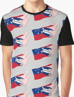 Samoa Rugby Flag Graphic T-Shirt