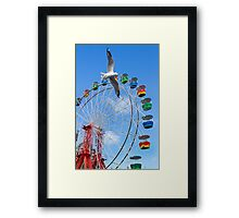 runing bird and wheel Framed Print