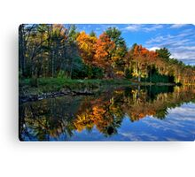 Fall Reflection Landscape Canvas Print