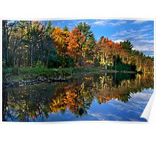 Fall Reflection Landscape Poster
