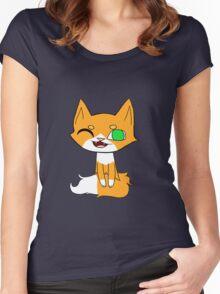 Simple Kitten Women's Fitted Scoop T-Shirt