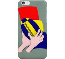 Rugby Romania Flag iPhone Case/Skin