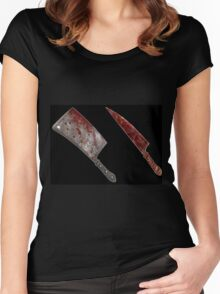 Bloody tools of death Women's Fitted Scoop T-Shirt