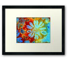 Ocean Tie-Dye Flower Framed Print