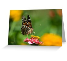 Lady Butterfly Art Greeting Card
