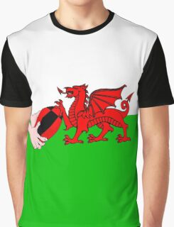 Wales Rugby Flag Graphic T-Shirt