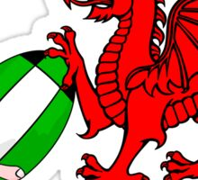 Wales Rugby Flag Sticker